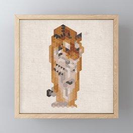 Tiger - Species in danger of pixelation Framed Mini Art Print