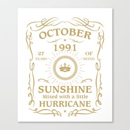 October 1991 Sunshine mixed Hurricane Canvas Print