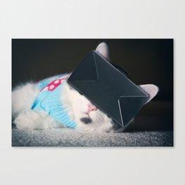 Virtual Reality Kitty Cat Canvas Print