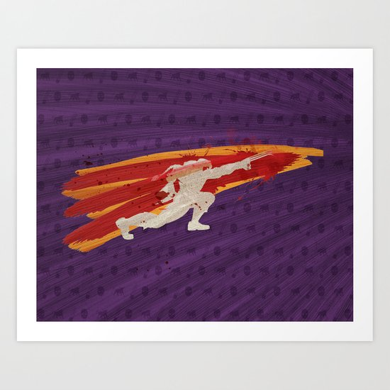 """My Friend Here Is Thirsty For Blood (Homage to Vega of """"Street Fighter"""") Art Print"""