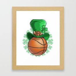 Basketball St. Patricks Day  Framed Art Print