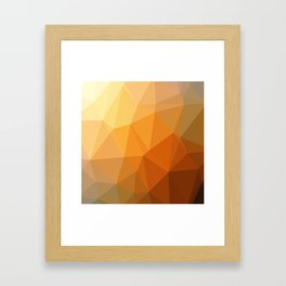 Shades Of Orange Triangle Abstract Framed Art Print