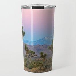 Sunrise Joshua Tree Desert Vibes (Blue and pink) Travel Mug