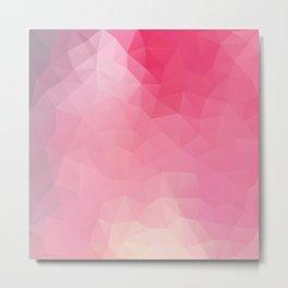 """Strawberry smoothie"" geometric design Metal Print"