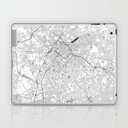 Charlotte White Map Laptop & iPad Skin