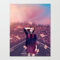 letter Canvas Prints featuring letter by Juli Gm