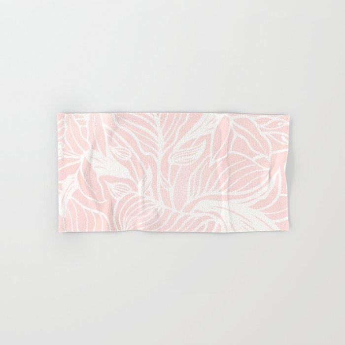 Blush Pink Coral Floral Garden Hand & Bath Towel