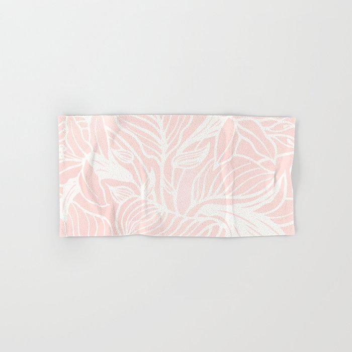 Pink Coral Floral Garden Hand & Bath Towel