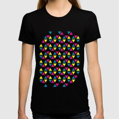 CMYK II Womens Fitted Tee LARGE Black
