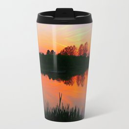 The beauty of a Sunset.  Travel Mug