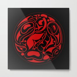 Abstract Indigenous Ornament Metal Print