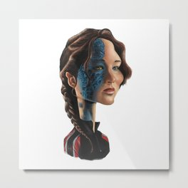 Jennifer Lawrence as Katniss Everdeen Metal Print