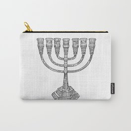 vector doodle menorah, chanukah holiday Carry-All Pouch