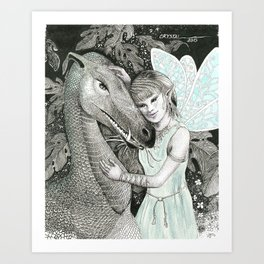 Dragon's Fairy Art Print