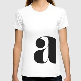 "letter ""a"" T-shirt"