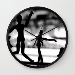 Wooden Puppet Wall Clock