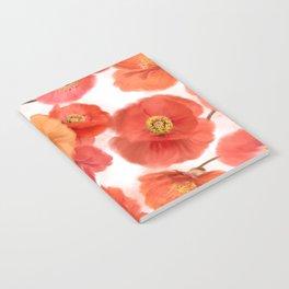 seamless   pattern of watercolor poppy flowers Notebook