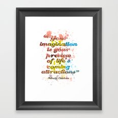 Imagination / Albert Einstein Framed Art Print