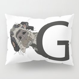 G is for Great Dane Pillow Sham