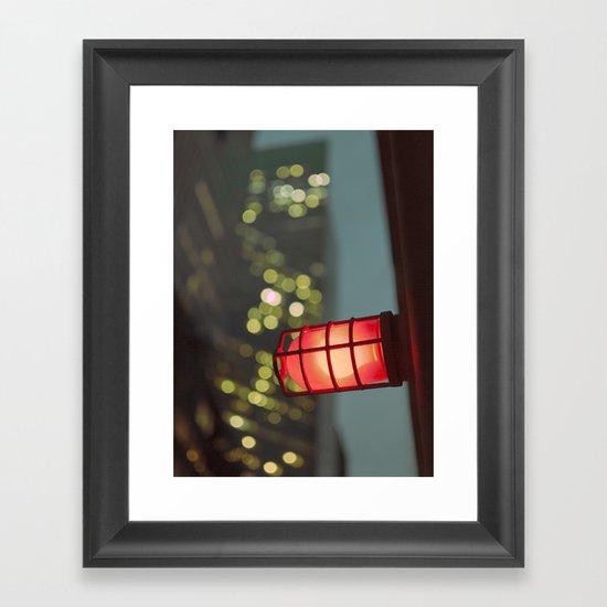 modern moonlight... Framed Art Print