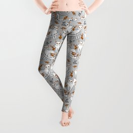 Oh, no! Your cat got a tattoo (grey) Leggings