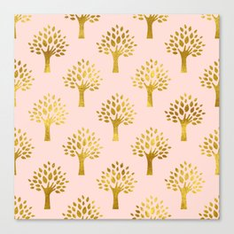 Pink Gold Foil 02 Canvas Print