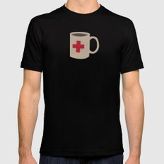 First aid Coffee Black Mens Fitted Tee MEDIUM