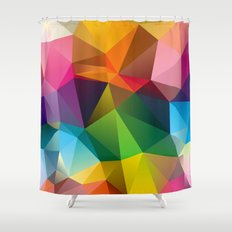 Geometric view Shower Curtain