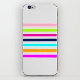 Modern neon colors geometrical whimsical stripes iPhone Skin