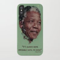 mandela iPhone & iPod Cases featuring Nelson Mandela by LightCircle