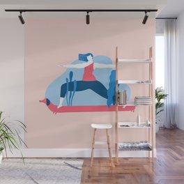Yoga Girls 1 The She Warrior Pose Wall Mural