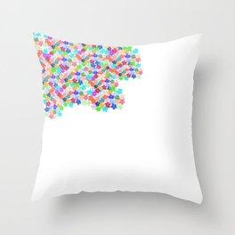 Floral Splodge Throw Pillow