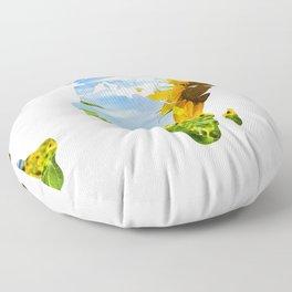 World of Sunflowers Floor Pillow