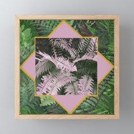 Fern Collage Framed Mini Art Print