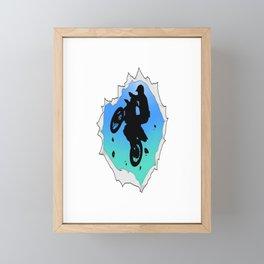 Awesome Motocross Gift Design Cool Dirt Bike Print Framed Mini Art Print