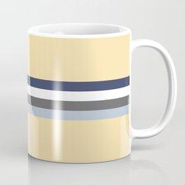 Minimal Abstract Grey Stripes On Beige - Drow Coffee Mug