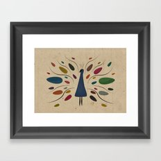 my sweet peacock Framed Art Print