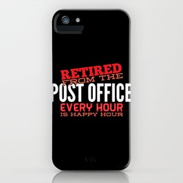 Retired Post Office Postal Worker Gift  iPhone Case