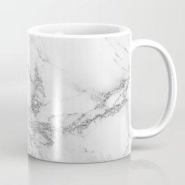 Elegant chic white gray silver glitter marble Coffee Mug