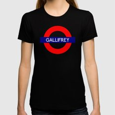 Gallifrey Black X-LARGE Womens Fitted Tee