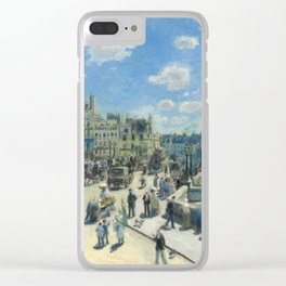 Pont Neuf Paris Painting by Auguste Renoir Clear iPhone Case