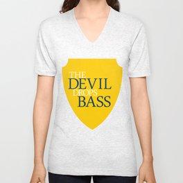 The Devil Drops Bass Unisex V-Neck