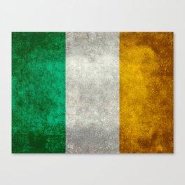 Republic of Ireland Flag, Vintage grungy Canvas Print