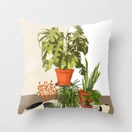 Plant Pots Throw Pillow