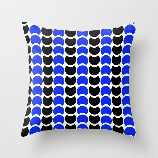 HobNob BlueBlack Print, Canvas and Laptop/iPad Skin Throw Pillow