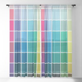 Colorful Soul - All colors together Sheer Curtain