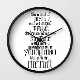 In a Land of Myth... Merlin Wall Clock