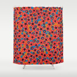 Hendrix 12 String 1960s Blazer Pattern Shower Curtain
