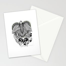 This goodbye is not forever Sympathy  - Zentangle Illustration Stationery Cards