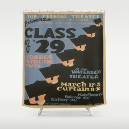 Vintage poster - Class of '29 Shower Curtain
